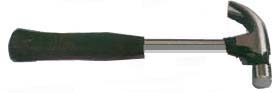 CLAW HAMMER WITH STEEL TUBULAR HANDLE & RUBBER GRIP